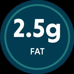 2.5g fat