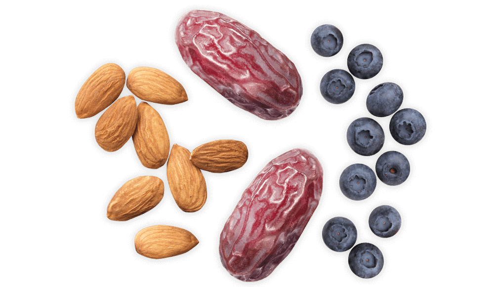 Medjool dates, blueberries and almonds-1