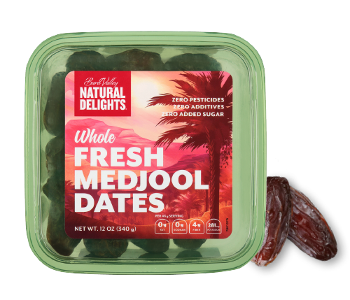 package of Natural Delights Whole Fresh Medjool Dates