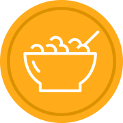 bowl of oatmeal icon