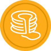 stack of pancakes icon