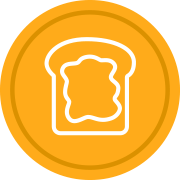 piece of toast icon