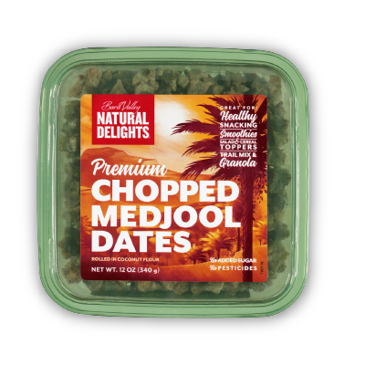 package of Natural Delights chopped dates